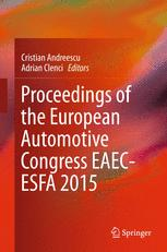 La couverture du livre Proceedings of the European Automotive Congress EAEC-ESFA 2015