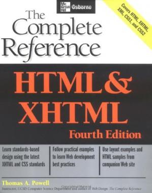 Book cover HTML & XHTML: The Complete Reference