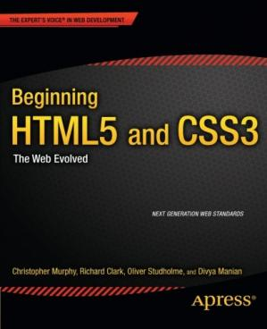 Book cover Beginning HTML5 and CSS3: The Web Evolved