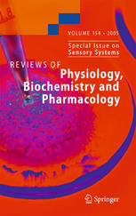 Portada del libro Reviews of Physiology, Biochemistry and Pharmacology