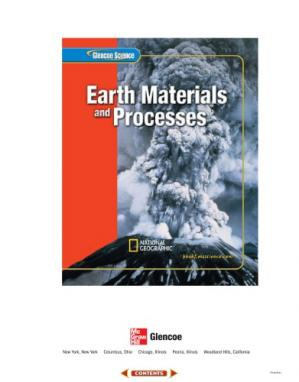 Book cover Glencoe Science: Earth's Materials and Processes Student Edition