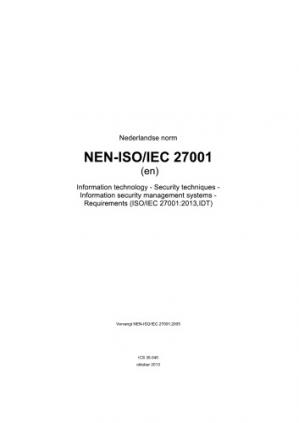Book cover ISO/IEC 27001:2013