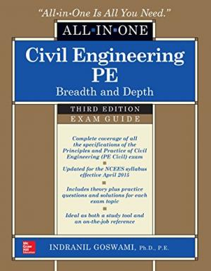 Обкладинка книги Civil Engineering All-In-One PE Exam Guide: Breadth and Depth