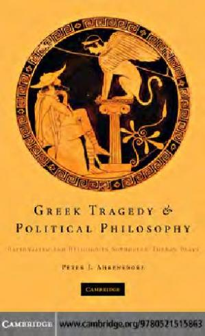 Couverture du livre Greek tragedy & political philosophy; Sophocles