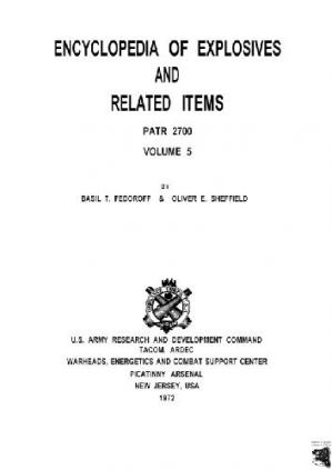 Book cover The Encyclopedia of Explosives and Related Items exri