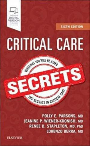 书籍封面 Critical Care Secrets