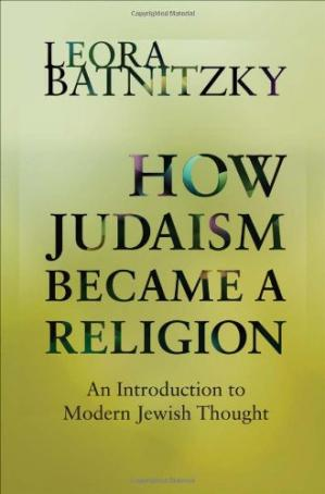 पुस्तक कवर How Judaism Became a Religion: An Introduction to Modern Jewish Thought