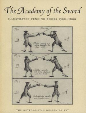 Book cover The Academy of the Sword.  Illustrated Fencing Books, 1500-1800