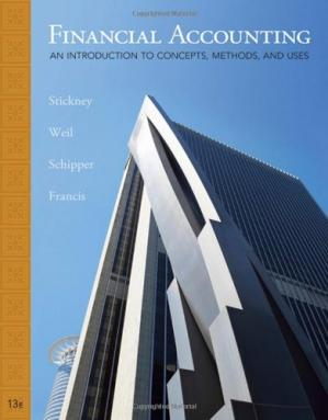 Book cover Financial Accounting: an introduction to concepts, methods, and uses, 13th Edition