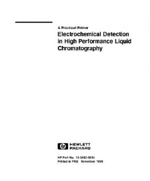 表紙 Electrochemical Detection in High Performance Liquid Chromatography
