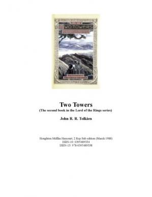 Couverture du livre Lord of the Rings, Part 2, The Two Towers