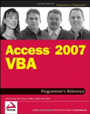 Book cover Access 2007 VBA Programmer's Reference (Programmer to Programmer)