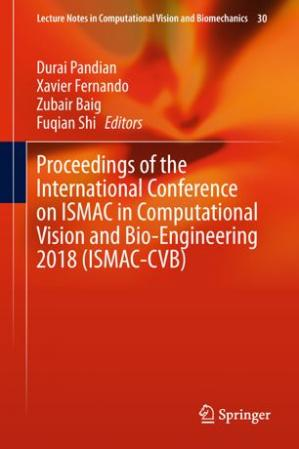 A capa do livro Proceedings of the International Conference on ISMAC in Computational Vision and Bio-Engineering 2018 (ISMAC-CVB)