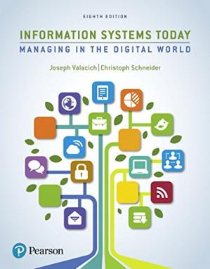 Book cover Information Systems Today: Managing the Digital World