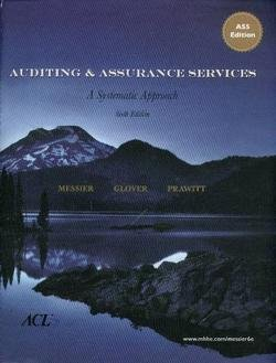 A capa do livro Auditing and Assurance Services: A Systematic Approach, Edition 6