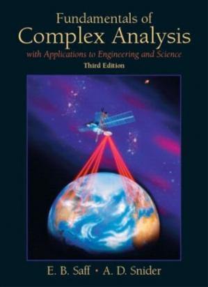 Book cover Fundamentals of complex analysis with applications to engineering and science