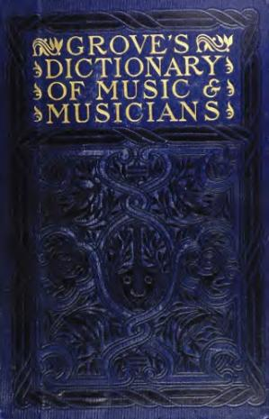 Εξώφυλλο βιβλίου Dictionary of music and musicians