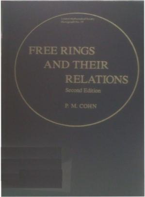 A capa do livro Free Rings and Their Relations