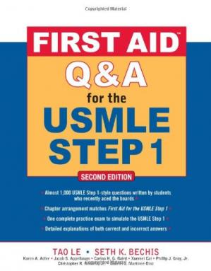 Book cover First Aid Q&A for the USMLE Step 1, Second Edition (First Aid USMLE)