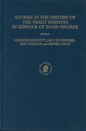 Book cover Studies in the History of the Exact Sciences in Honour of David Pingree