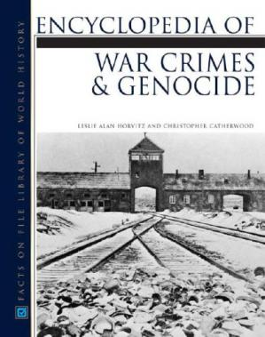 Copertina Encyclopedia of War Crimes And Genocide (Facts on File Library of World History)