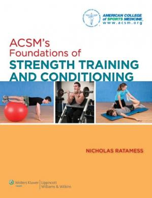 Portada del libro ACSM's Foundations of Strength Training and Conditioning (American College of Sports Med)