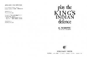 Book cover Chess Play The King's Indian