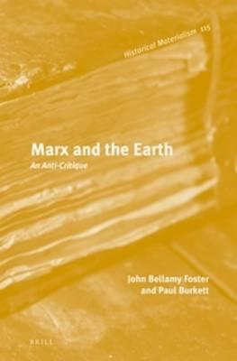 Sampul buku Marx and the Earth:  An Anti-Critique