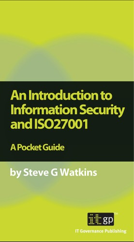 Book cover An Introduction to Information Security and ISO 27001