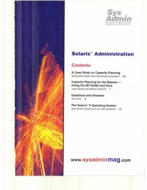 Book cover Sys Admin, Supplement 2003: Solaris Administration