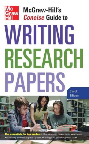 La couverture du livre McGraw-Hill's Concise Guide to Writing Research Papers