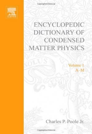 Book cover Encyclopedic Dictionary of Condensed Matter Physics
