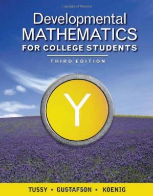 पुस्तक कवर Developmental Mathematics for College Students, 3rd Ed. (Available Titles Cengagenow)