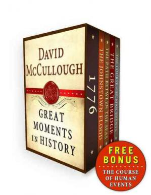 Εξώφυλλο βιβλίου David McCullough Great Moments in History E-book Box Set: 1776, The Johnstown Flood, Path Between the Seas, The Great Bridge, The Course of Human Events