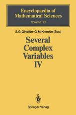 Book cover Several Complex Variables IV: Algebraic Aspects of Complex Analysis