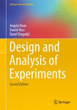 Book cover Design and Analysis of Experiments
