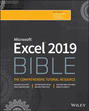 Book cover Excel 2019 bible
