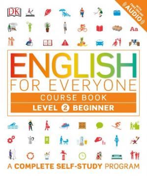 Book cover English for Everyone - Level 2 Beginner - Course Book