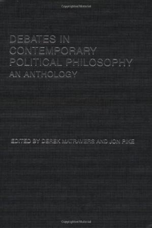 Обкладинка книги Debates in Contemporary Political Philosophy: An Anthology