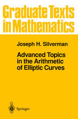Book cover Advanced Topics in the Arithmetic of Elliptic Curves