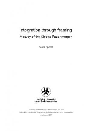 书籍封面 Integration through framing : a study of the Cloetta Fazer merger