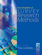 Book cover Encyclopedia of Survey Research Methods (2 Volume Set)