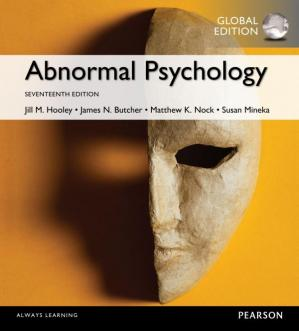 Book cover Abnormal Psychology, Global Edition