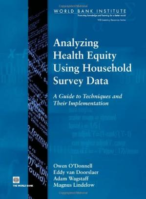 Copertina Analyzing Health Equity Using Household Survey Data: A Guide to Techniques and their Implementation