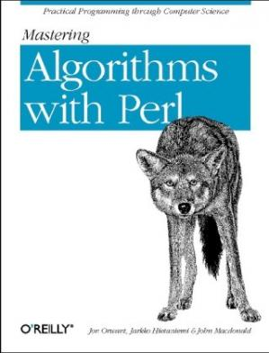 A capa do livro Mastering Algorithms with Perl