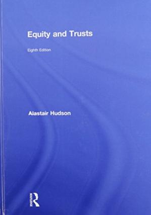 Book cover Equity and Trusts
