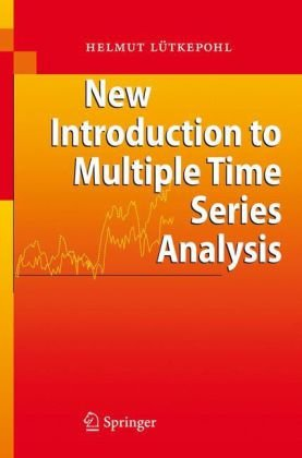 A capa do livro New introduction to multiple time series analysis