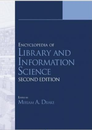 पुस्तक कवर Encyclopedia of Library and Information Science,