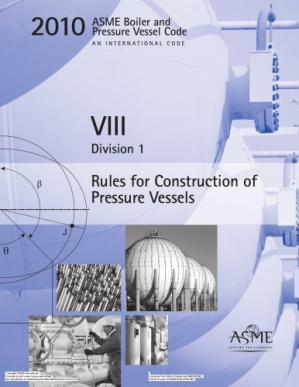 Book cover ASME BPVC 2010 - Section VIII, Division 1: Rules for Construction of Pressure Vessels