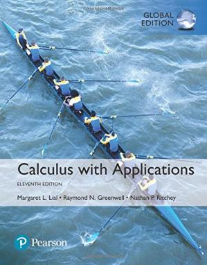 Book cover Calculus with applications
